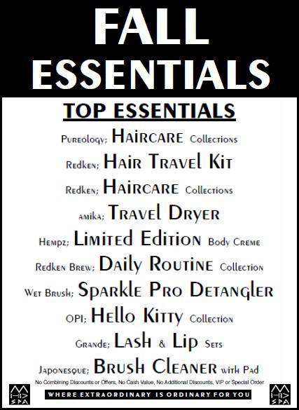 Fall Essentials 2019 Top 10