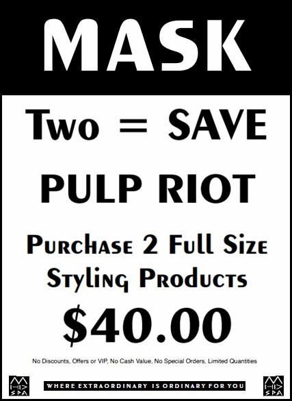 May 2020 Pulp Riot promo